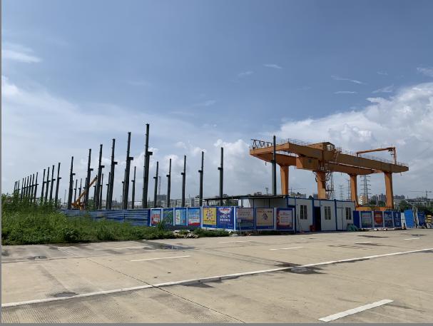 南宁国际铁路港柳钢钢材过渡仓
